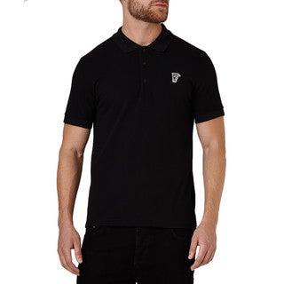 Versace Collection Men's Black Pique Cotton Medusa Short Sleeve T-shirt