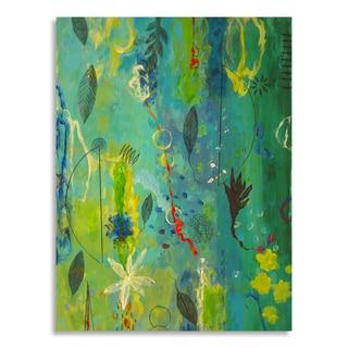 Gallery Direct AA Phoenix 'Sea Flowers I' Birchwood