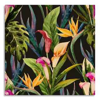 Gallery Direct Tropical watercolor seamless pattern' Birchwood