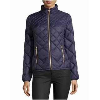 Michael Michael Kors Women's Purple Diamond Puffer Coat