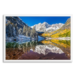 Gallery Direct 'Maroon Bells, Colorado after snow strom' Paper Framed
