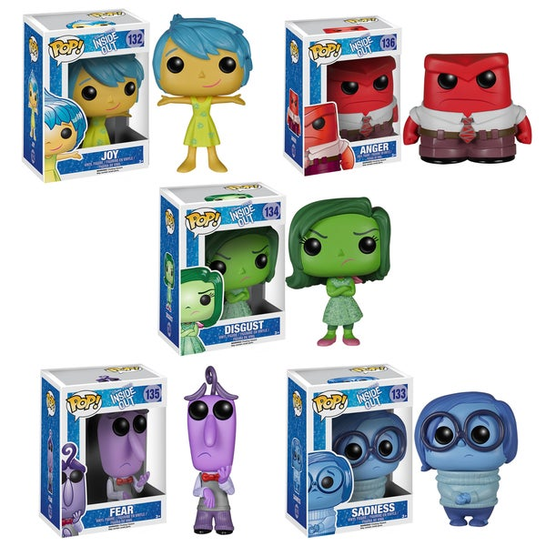 Shop Funko Inside Out Pop Disney Pixar Vinyl Collectors Set With Sadness Joy Disgust Anger Fear Overstock 10535309