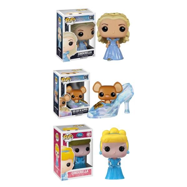 Funko Cinderella Pop Disney Vinyl Collectors Set with Cinderella/ Slipper with Gus Gus/ Classic Cinderella