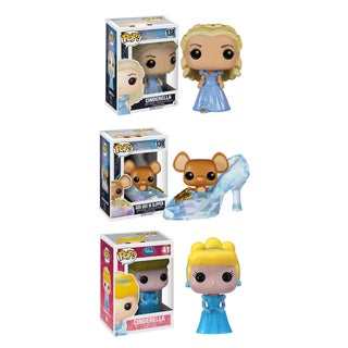 Funko Cinderella Pop Disney Vinyl Collectors Set with Cinderella/ Slipper with Gus Gus/ Classic Cinderella