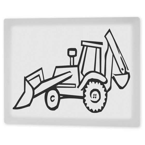 Coloring Art 'Construction Zone' 8x10 Coloring Canvas Wall Art