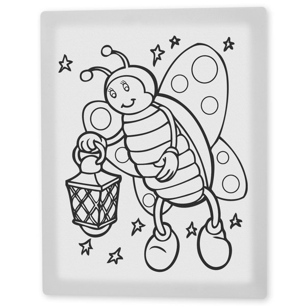 Coloring Art 'Betty the Butterfly' 8x10 Coloring Canvas Wall Art 16190916