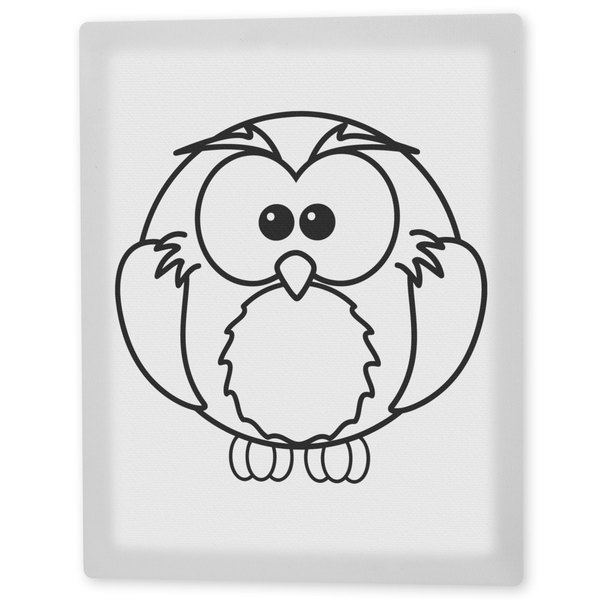 Coloring Art 'Olive the Owl' 8x10 Coloring Canvas Wall Art 16190920