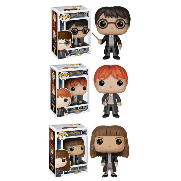 Funko Harry Potter Pop Movie Vinyl Collectors Set with Harry Potter/ Ron Weasley and Hermione