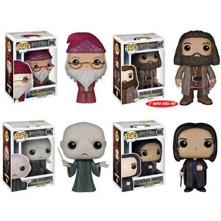 Funko Harry Potter Pop Movie Vinyl Collectors Set with Albus Dumbledore/ Rubeus Hagrid/ Lord Voldemort/ Severus Snape