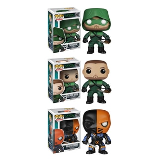 Funko Arrow Pop TV Vinyl Collectors Set with The 'Arrow'/ Oliver Queen and Deathstroke