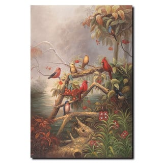 Joval 'Birds' 24x32 Canvas Wall Art