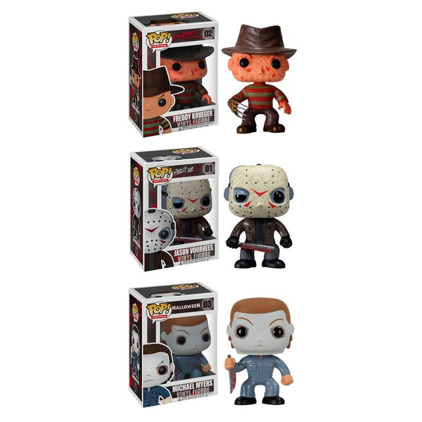 Funko Horror Classics Pop Movies Vinyl Collectors Set With Freddy Krueger Jason Voorhees Michael