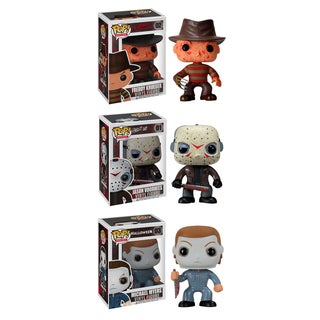 Funko Horror Classics Pop Movies Vinyl Collectors Set with Freddy Krueger/ Jason Voorhees/ Michael Myers
