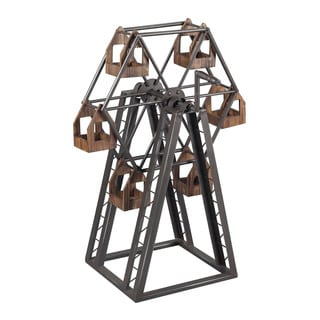 Sterling Bradworth-Industrial Ferris Wheel Candle Holder