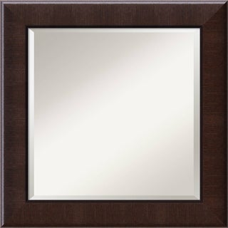Wall Mirror Square, Dark Umber 26 x 26-inch
