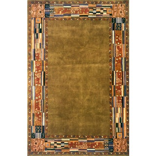 Zachary Olive Green Hand-tufted Wool Rug (9'6 x 13'6)