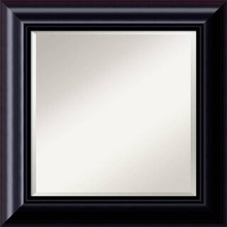 Dark Chestnut Wall Mirror - Square 27 x 27-inch