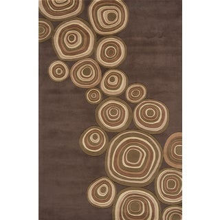 Timber Earth Hand-tufted Wool Rug (9'6 x 13'6)
