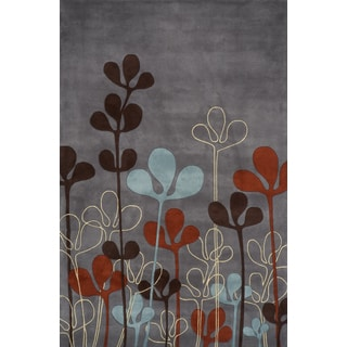 Delilah Steel Hand-tufted Wool Rug (9'6 x 13'6)