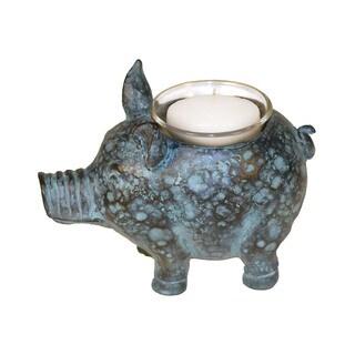 Sterling Little Pig Votive Candle Holder
