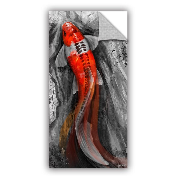 ArtAppealz Steve Goad 'Flowing Koi' Removable Wall Art