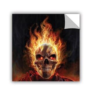 ArtAppealz Steve Goad 'Flaming Skull' Removable Wall Art