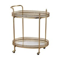 Sterling Banded Oval Bar Cart