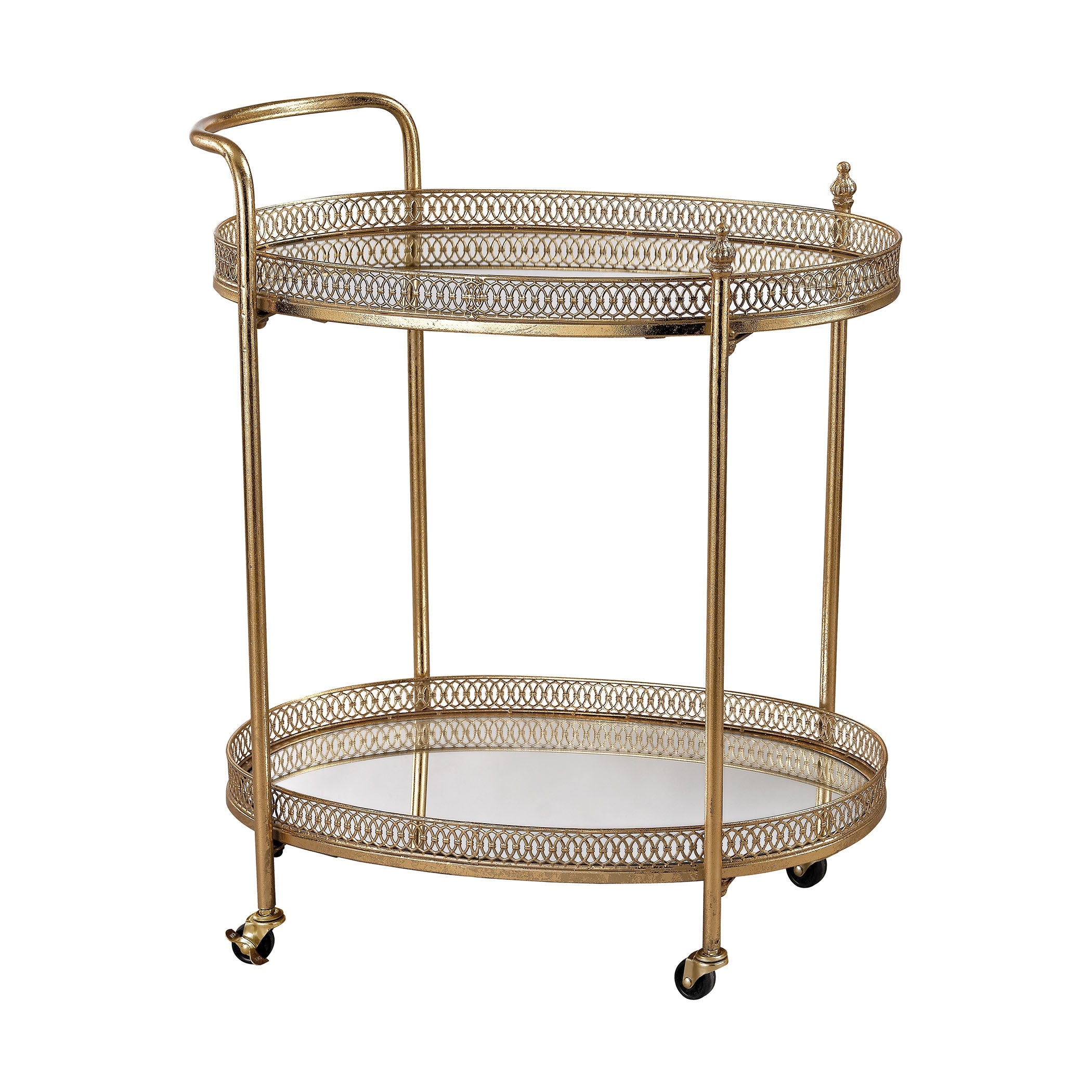 Sterling Banded Oval Bar Cart Overstock 10535650