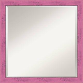 Wall Mirror Square, Petticoat Pink Rustic 22 x 22-inch