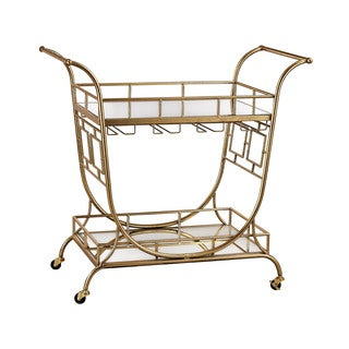 Sterling Mirrored Server Bar Cart