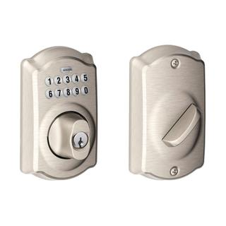 Schlage Camelot Satin Nickel Keypad Deadbolt
