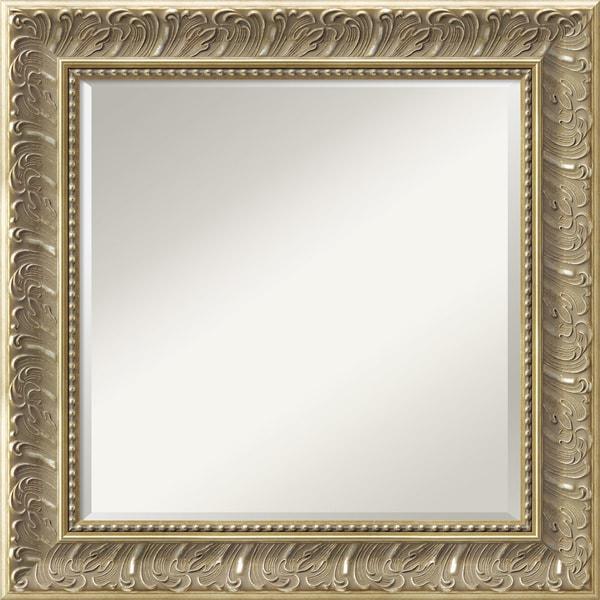 silver baroque wall mirror square 26 x 26 inch free
