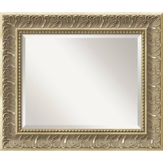 Wall Mirror Medium, Silver Baroque 22 x 26-inch