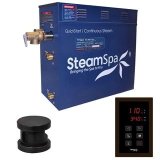 SteamSpa Oasis 4.5 KW QuickStart Steam Bath Generator Package in Oil Rubbed Bronze