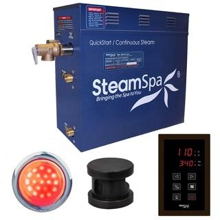 SteamSpa Indulgence 4.5 KW QuickStart Steam Bath Generator Package in Oil Rubbed Bronze