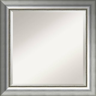 Wall Mirror Square, Vegas Burnished Silver 25 x 25-inch - Bronze/Silver - 24.75 x 24.75 x 1.573 inches deep