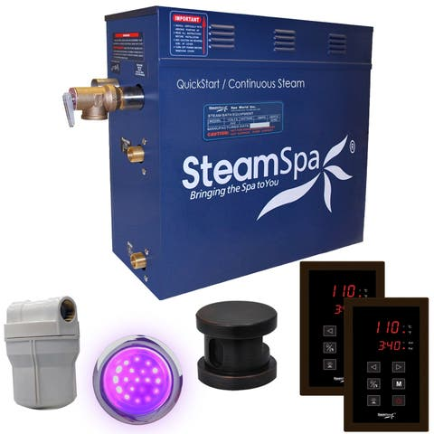SteamSpa Royal 6 KW QuickStart Steam Bath Generator Package in Oil Rubbed Bronze
