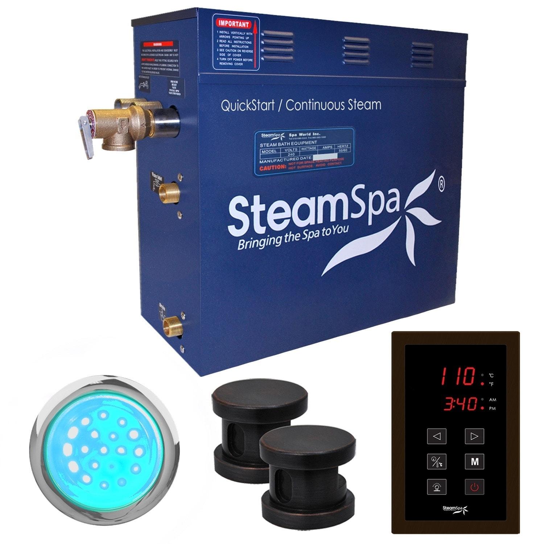 SteamSpa Indulgence 10.5 KW QuickStart Steam Bath Generat...