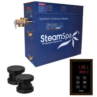 SteamSpa Oasis 12 KW QuickStart Steam Bath Generator Package in Oil Rubbed Bronze