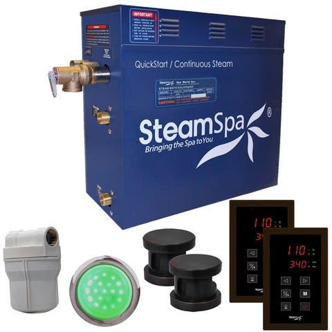 SteamSpa Royal 12 KW QuickStart Steam Bath Generator Package in Oil Rubbed Bronze
