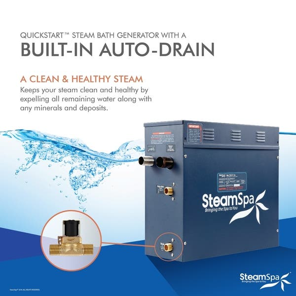 Steamspa 6 Kw Quickstart Steam Bath Generator With Built In Auto Drain On Sale Overstock 10535805