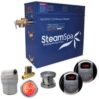 SteamSpa Royal 4.5 KW QuickStart Steam Bath Generator Package with Built-in Auto Drain in Brushed Nickel