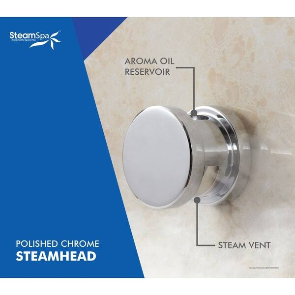 Steamspa Oasis 6 Kw Quickstart Steam Bath Generator Package With Built In Auto Drain In Polished Chrome Overstock 10535822