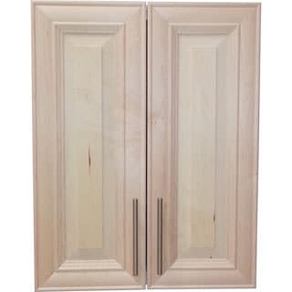 Overton 27-inch High 2-door 3.5-inch On The Wall Frameless Medicine Cabinet