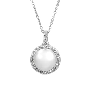 Bridal Jewelry: Elegant CZ & pearl Necklace