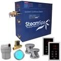 SteamSpa Royal 10.5 KW QuickStart Steam Bath Generator Package with Built-in Auto Drain in Polished Chrome