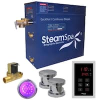 SteamSpa Indulgence 12 KW QuickStart Steam Bath Generator Package with Built-in Auto Drain in Polished Chrome