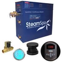 SteamSpa Indulgence 4.5 KW QuickStart Steam Bath Generator Package with Built-in Auto Drain in Oil Rubbed Bronze