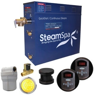 SteamSpa Royal 4.5 KW QuickStart Steam Bath Generator Package with Built-in Auto Drain in Oil Rubbed Bronze