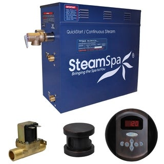 SteamSpa Oasis 9 KW QuickStart Steam Bath Generator Package with Built-in Auto Drain in Oil Rubbed Bronze